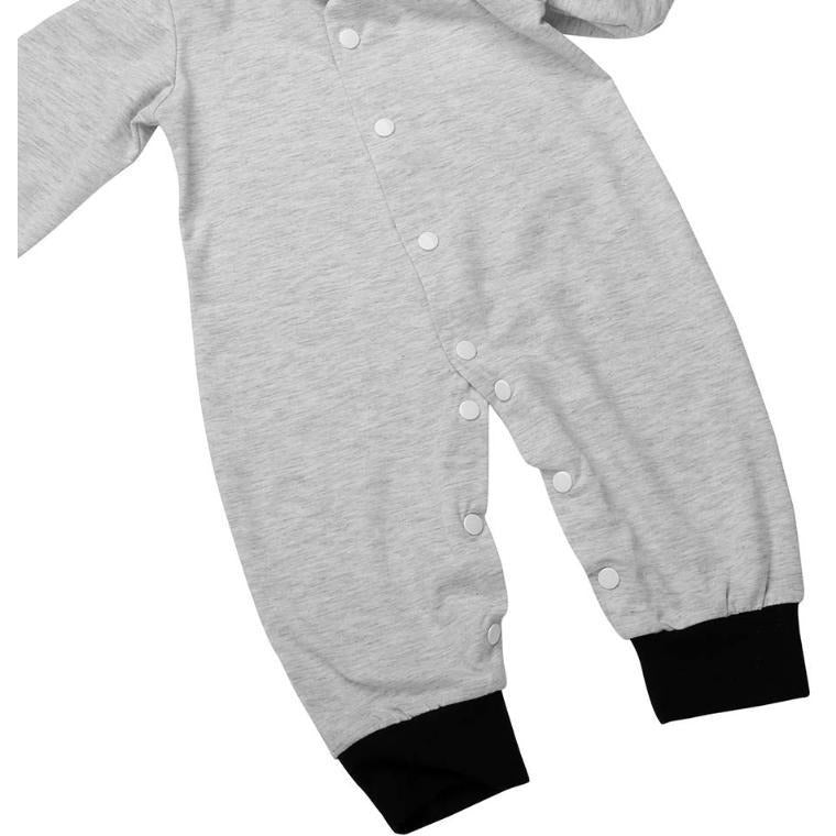 Cute Baby Fox Hooded Jumpsuit - Little Swan Boutique