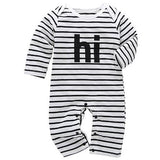 Baby Striped Hi Printed Jumpsuit - Little Swan Boutique