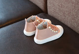 Cute Girls Fashion Pearl Sneakers - Little Swan Boutique