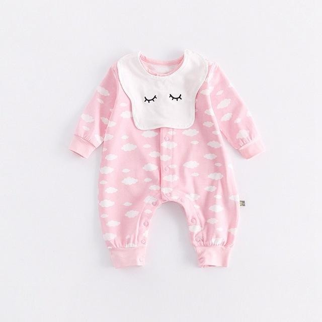 Cute Cloud Print Jumpsuit - Little Swan Boutique