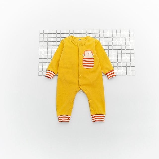 Baby Animal Pocket Jumpsuit - Little Swan Boutique
