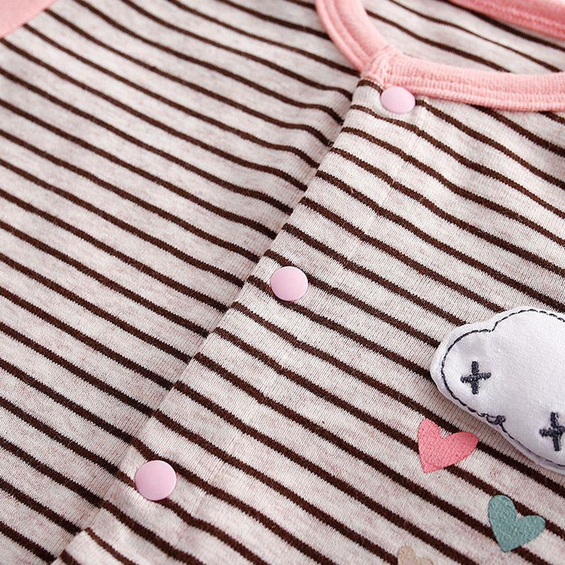 Baby Striped Rabbit Jumpsuit - Little Swan Boutique