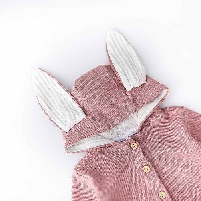 Rabbit Ears Hooded Jacket - Little Swan Boutique