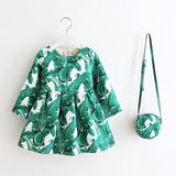 Girls Party Dresses With Bag - Little Swan Boutique