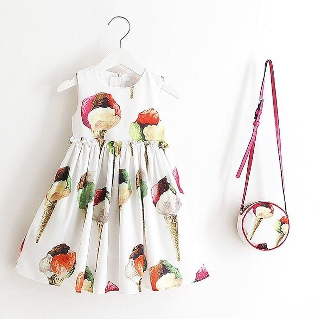Beautiful Summer Dresses with Bag - Little Swan Boutique