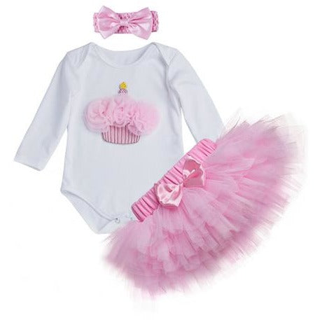 Birthday Long Sleeve Romper & Tutu - Little Swan Boutique