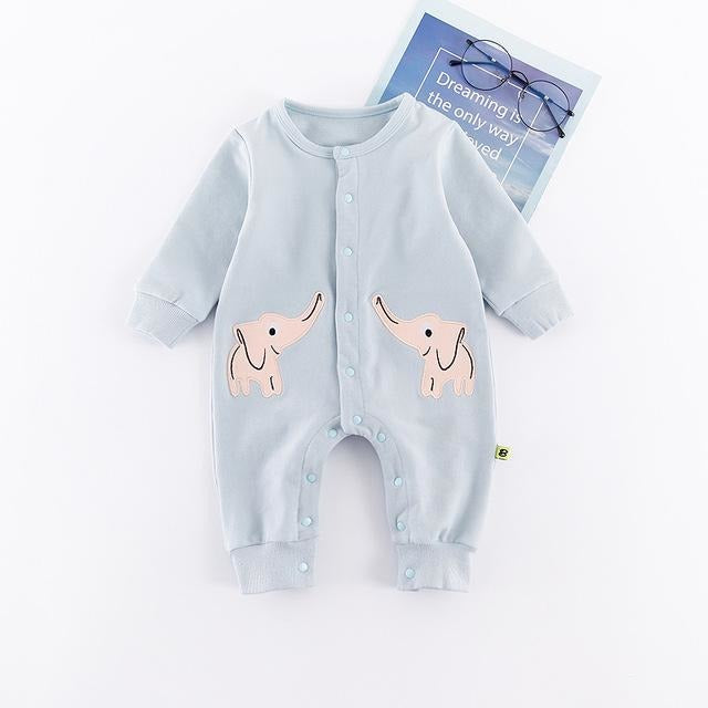 Cute Animal Baby Jumpsuit - Little Swan Boutique