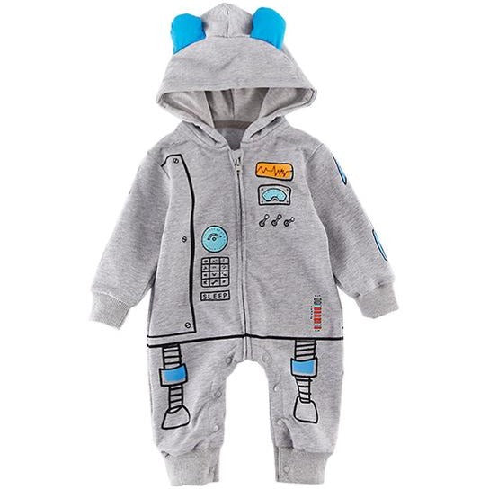 Baby Space Hooded Jumpsuit - Little Swan Boutique