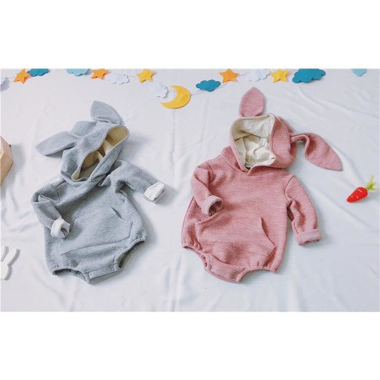 Cute Rabbit Hooded Jumpsuit - Little Swan Boutique