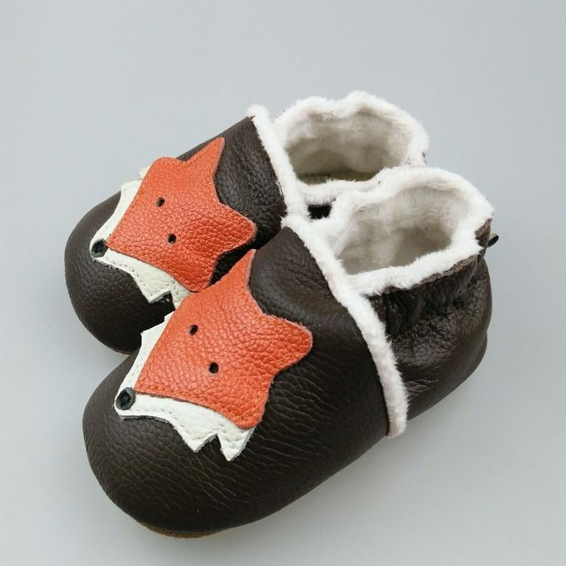 Genuine Leather Fox Baby Shoes - Little Swan Boutique