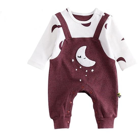 Baby Moon Star Jumpsuit - Little Swan Boutique