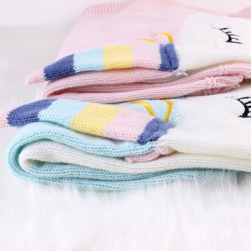 Beautiful Unicorn Knitted Blanket - Little Swan Boutique