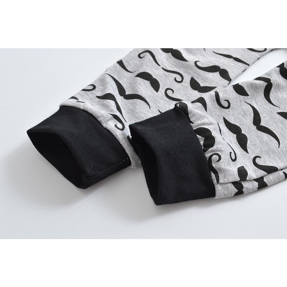 Cute Mustache Boys Clothing Set - Little Swan Boutique