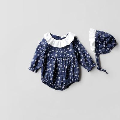 Baby Girls Long Sleeve Rompers - Little Swan Boutique