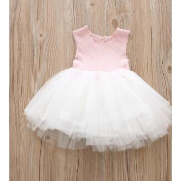 Baby Girls Sleeveless Lace Dress - Little Swan Boutique