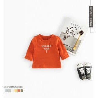 Who AM I Print Pullover - Little Swan Boutique