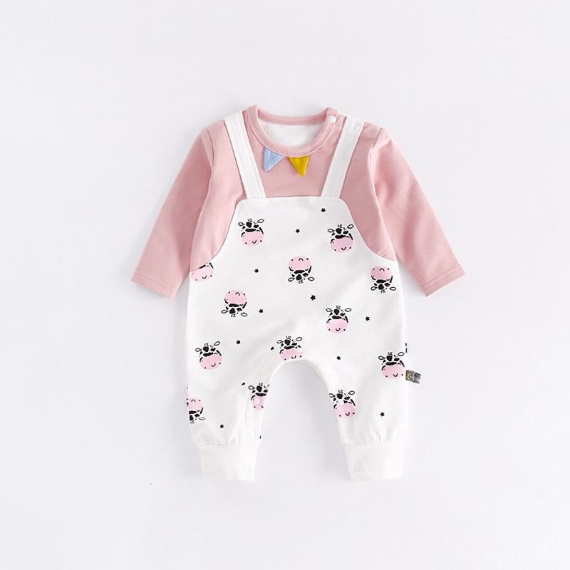 Cute Cow Print Baby Jumpsuit - Little Swan Boutique