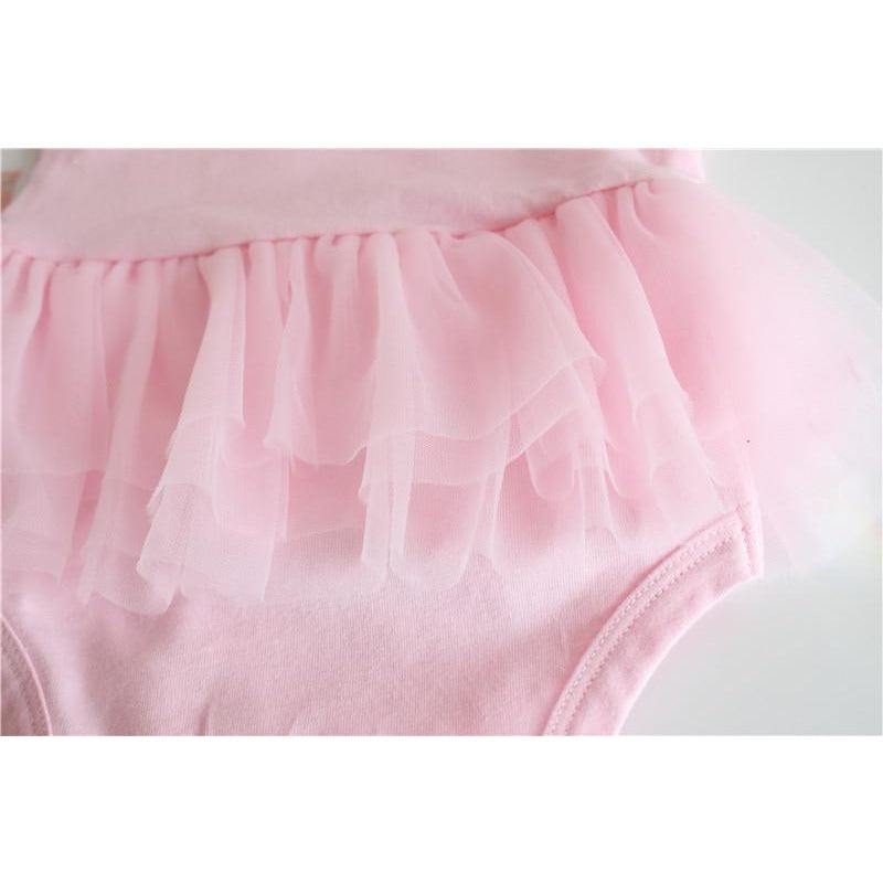 Baby Girls Angel Wings Romper - Little Swan Boutique