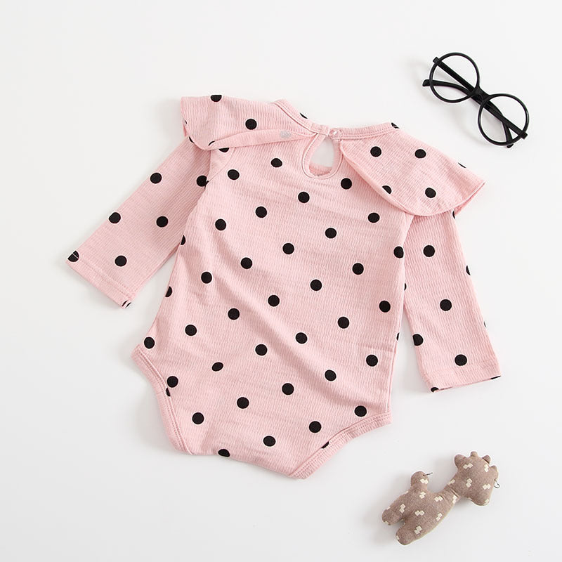 Baby Girls Polka Dot Romper - Little Swan Boutique