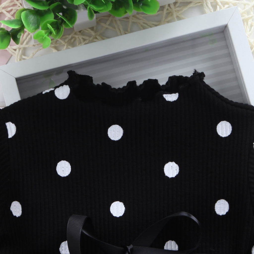 Girls Polka Dot Princess Dress - Little Swan Boutique