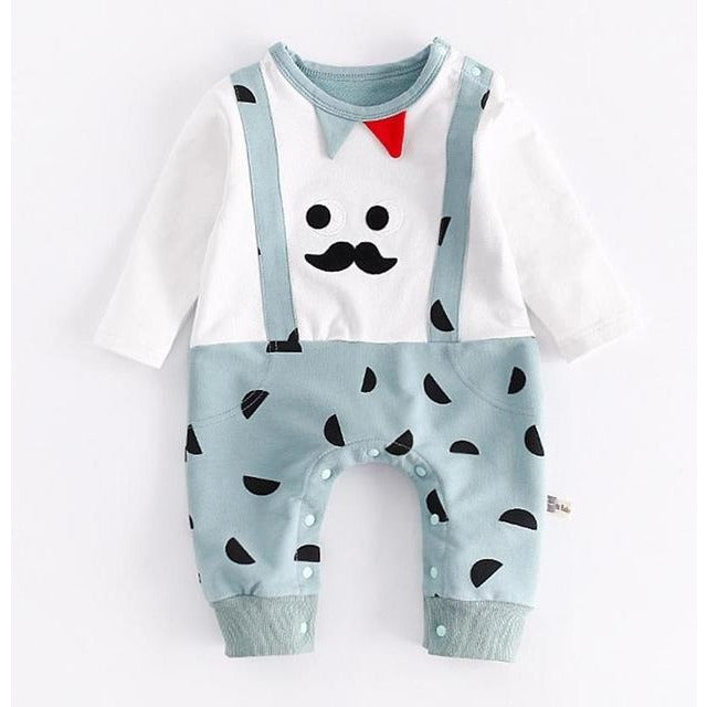 Baby Boy Half Moon Print Jumpsuit - Little Swan Boutique