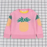 Kids Pineapple Print Cardigan - Little Swan Boutique