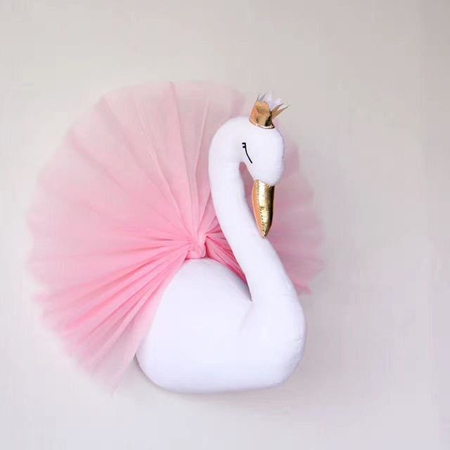 Golden Crown Swan Wall Decoration - Little Swan Boutique