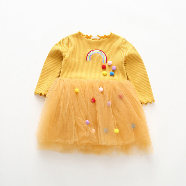Girls Rainbow Tutu Dress - Little Swan Boutique