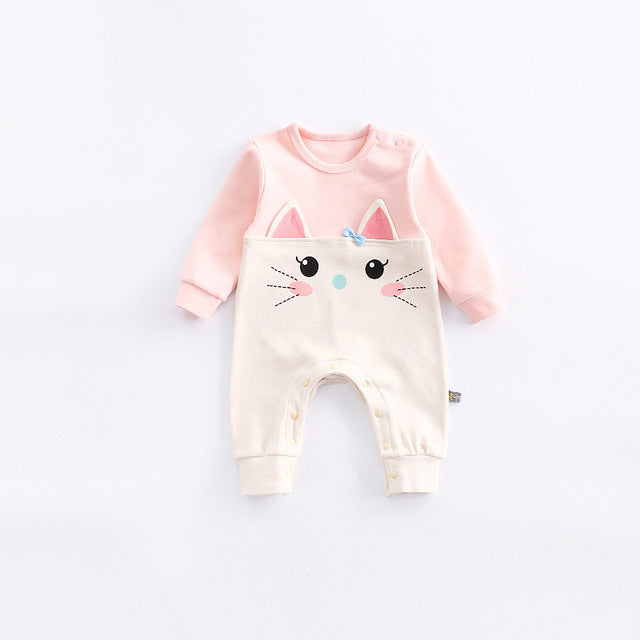 Cute Baby Animal Jumpsuit - Little Swan Boutique