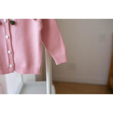 Girls Crown Style Cardigan - Little Swan Boutique