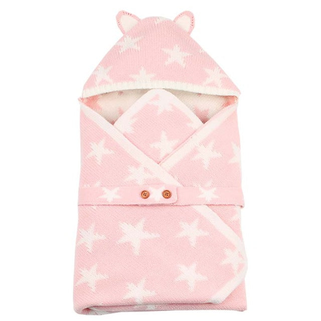 Baby Swaddle Hooded Blanket - Little Swan Boutique