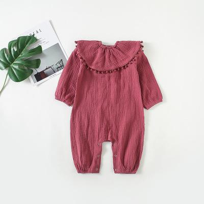 Baby Girls Lotus Leaf Collar jumpsuit - Little Swan Boutique