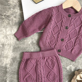 Baby Knitted Cardigan And Shorts Set - Little Swan Boutique