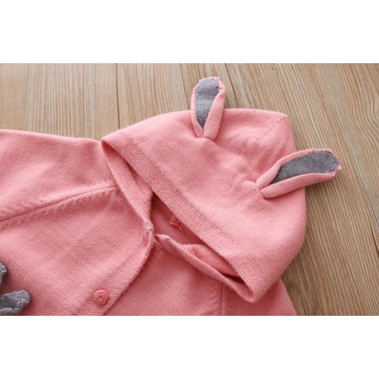 Girls Knitted Rabbit Cardigan - Little Swan Boutique
