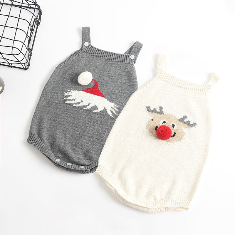 Christmas Baby Knitted Romper - Little Swan Boutique
