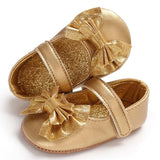 Cute Baby Glitter Bow Shoes - Little Swan Boutique