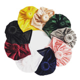 Velvet Round Knot Baby Turban - Little Swan Boutique