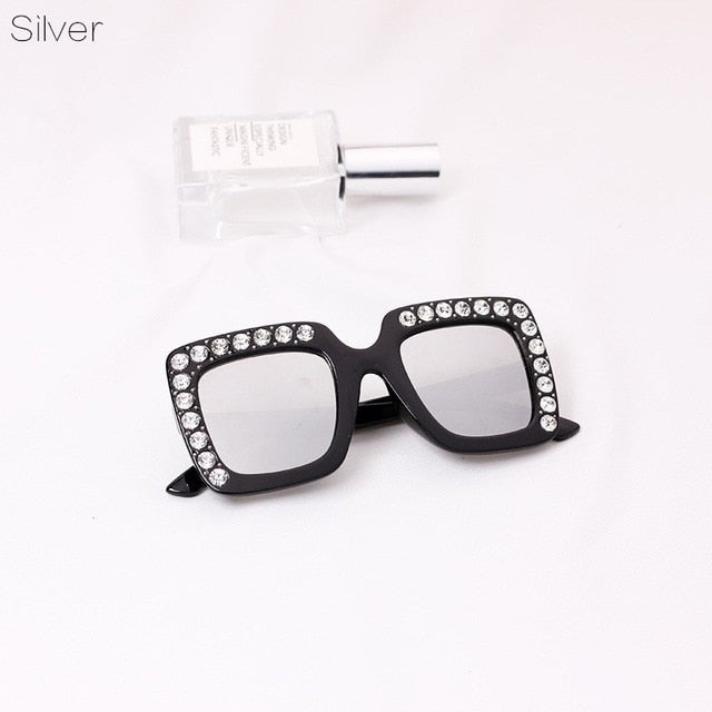 Girls Vintage Inspired Rhinestone Sunglasses