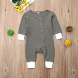 Cute Baby Crew Neck Jumpsuit - Little Swan Boutique
