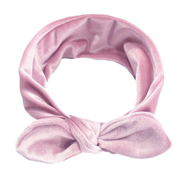 Cute Baby Girls Velvet Knot Headband
