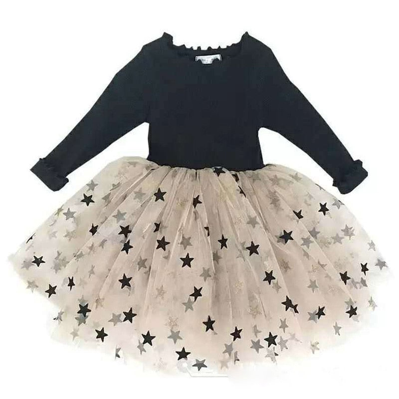 Beautiful Girls Star Print Tutu Dress - Little Swan Boutique