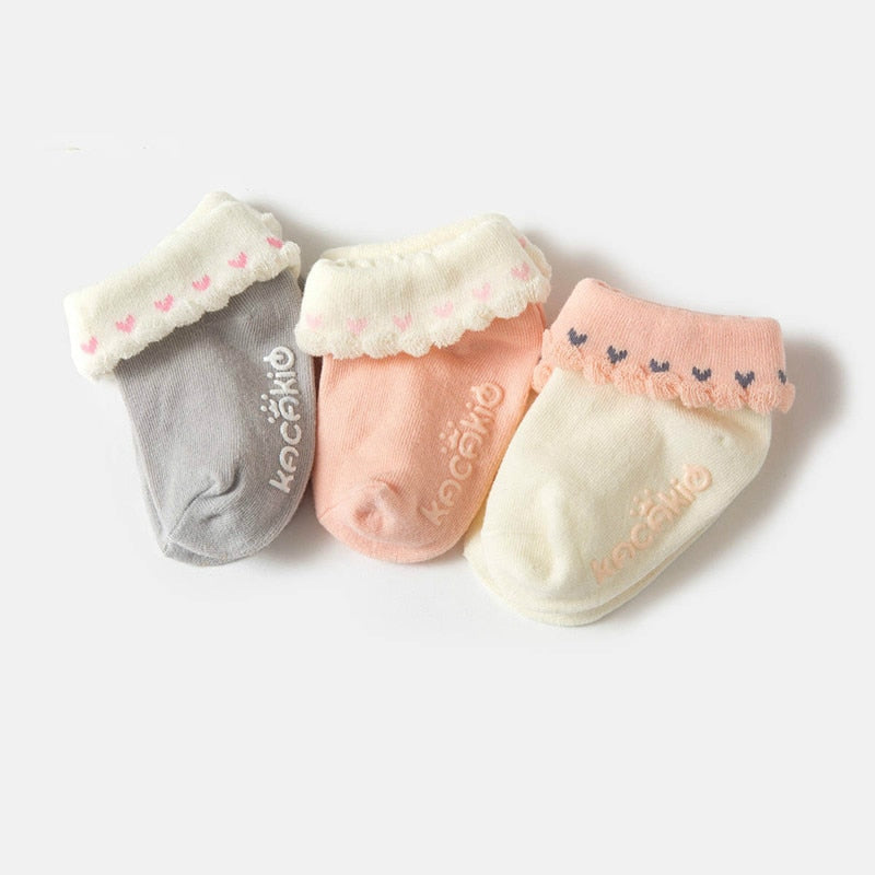 Cute Baby Girls Lace Heart Socks