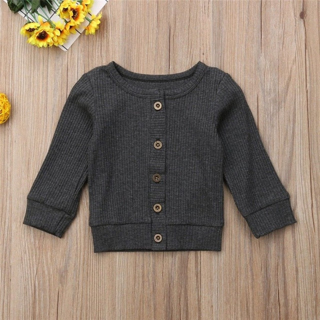 Baby Basic Solid Color Sweater - Little Swan Boutique