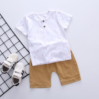 Boys Casual Summer Tee + Khaki Shorts