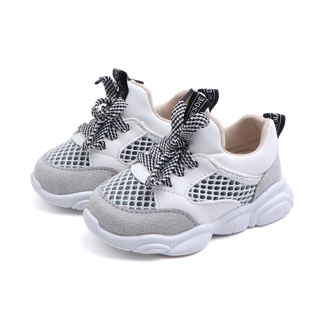 Boys Casual Mesh High Platform Sneakers