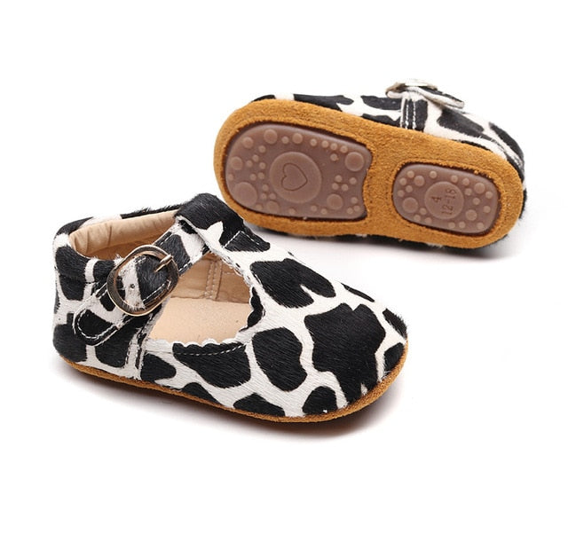 New Genuine Leather Baby Leopard Print Shoes