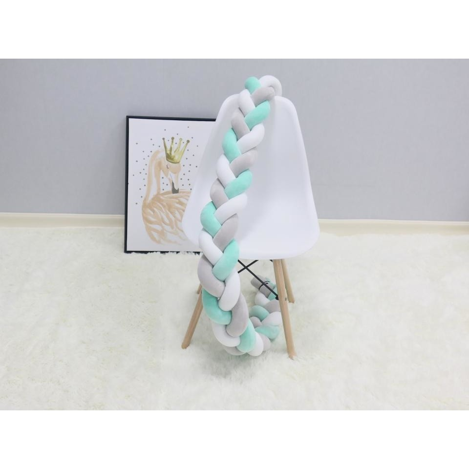 2M Knotted Crib Bumper - Little Swan Boutique