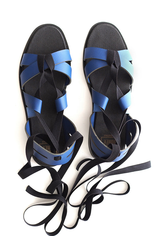 Cleo Sandal in Navy and Black