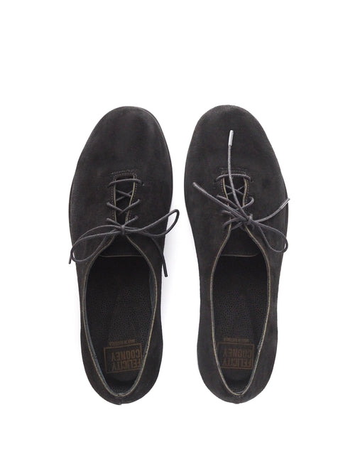 Black Suede Brogue