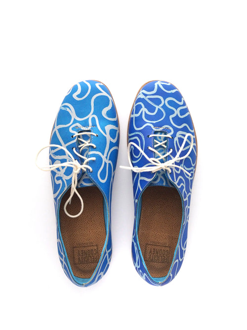 Blue Squiggle Brogues